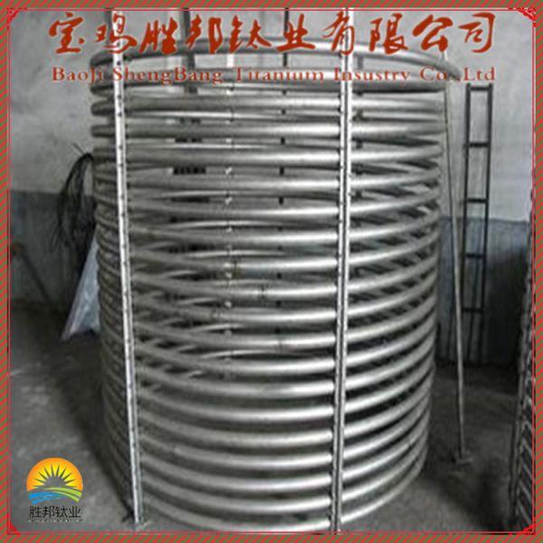 厂家供应钛盘管 TA2钛弯管 热交换器 耐腐蚀钛设备