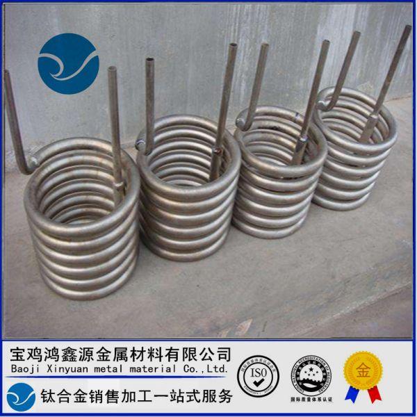 钛材厂家加工 钛盘管 换热器钛管 TA2钛合金管材