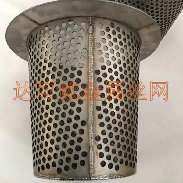 钛网滤芯 锥形管道专用钛网焊接滤芯