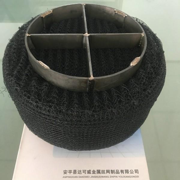 钛除雾器 钛合金丝网除雾器带格栅框架