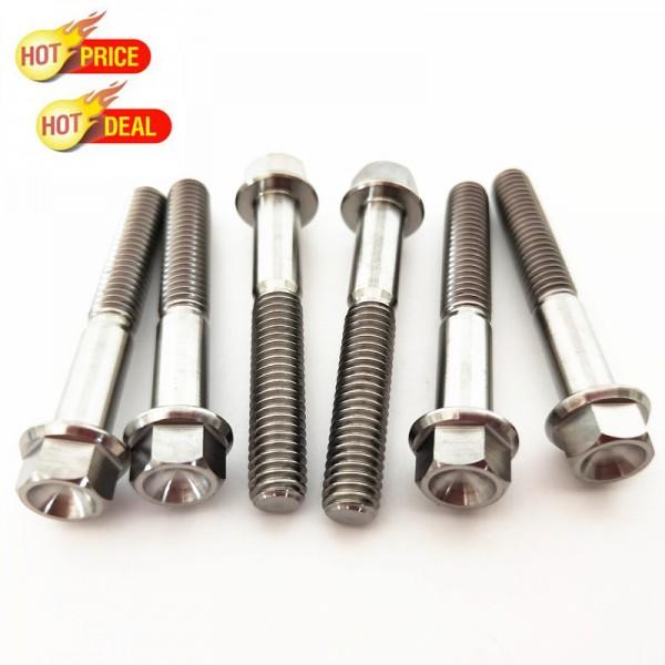 法兰头螺栓 螺丝 钛合金加工件汽车摩托车定制配件