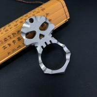 钛合金破窗器骷髅挂件防身自卫防狼工具汽车救生指扣