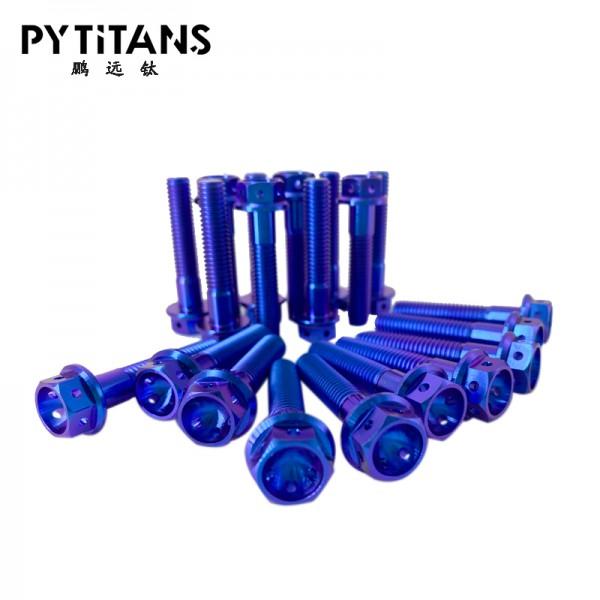 钛合金法兰头六孔螺栓 GR5摩托车 厂家支持定制